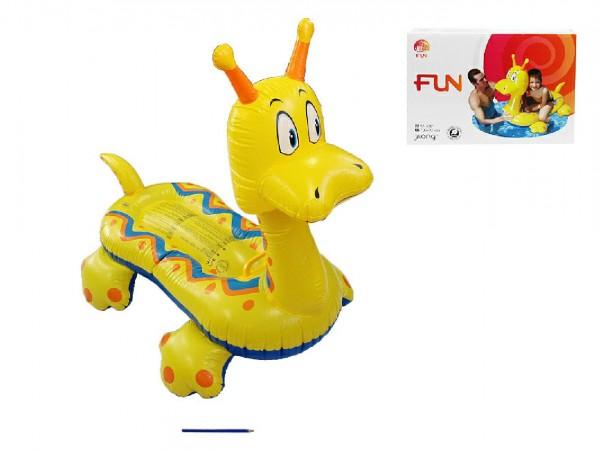 Lehátko Dinosaurus nafukovací s úchytem 135x72cm v krabici