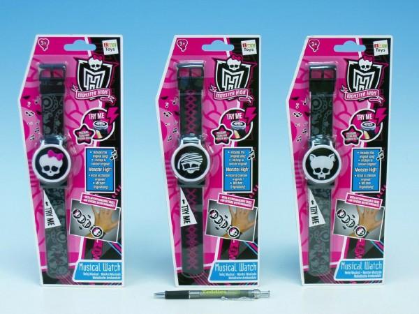Hodinky Monster High digitální se zvukem asst 3 druhy na kartě