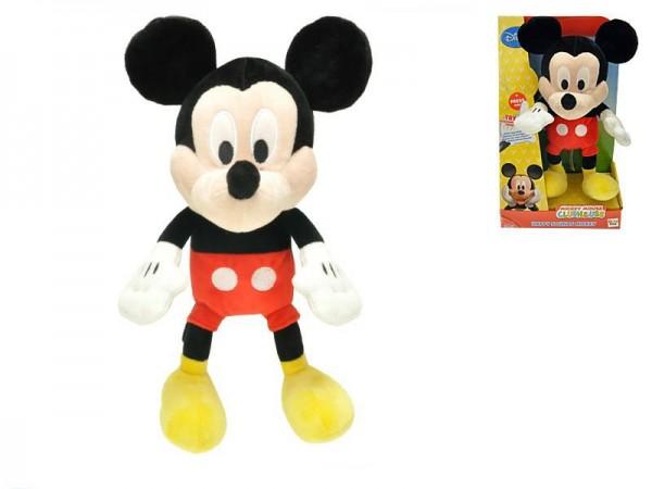 Mickey Mouse Clubhouse plyš 33cm na baterie 3xAG13 se zvukem v krabici 18m+