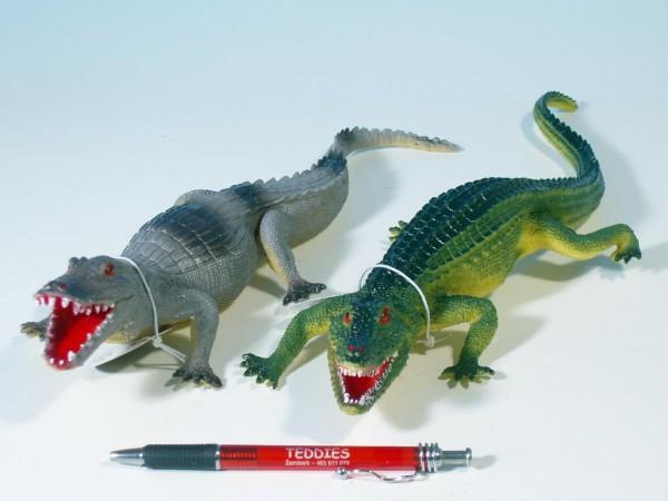 Krokodýl plast 36-41cm asst 2 barvy 12ks v boxu