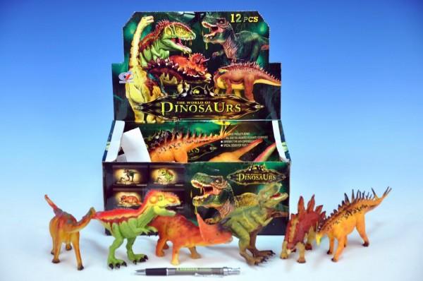 Dinosaurus plast 15-18cm asst 6 druhů 12ks v boxu
