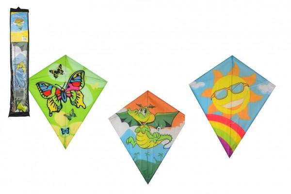 Teddies Drak létající nylon 60x70cm 3 druhy v sáčku