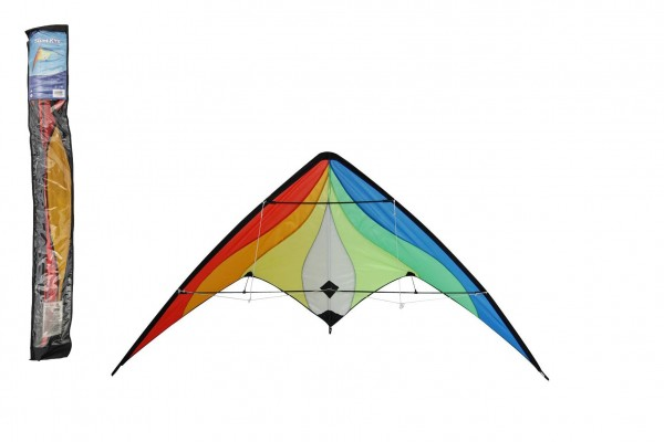 Drak létající nylon 160x80cm barevný v sáčku