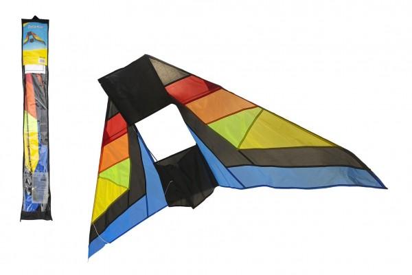 Teddies Drak létající nylon delta 183x81cm barevný v sáčku