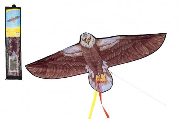 Teddies Drak létající nylon orel 138x69cm v sáčku