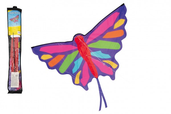 Teddies Drak létající nylon motýl 130x74cm v sáčku