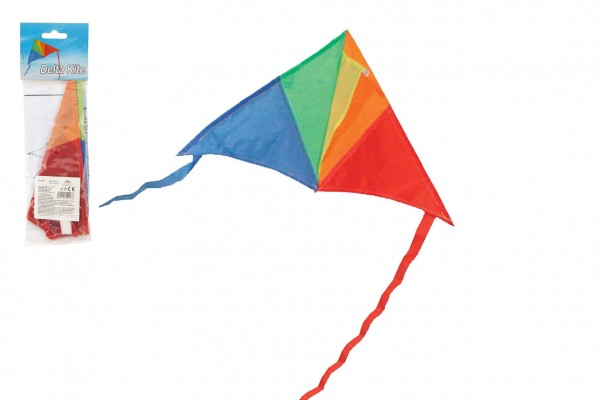 Teddies Drak létající nylon delta 45x25cm barevný v sáčku