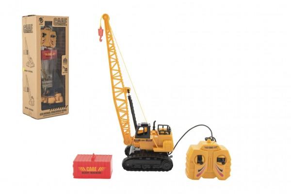 Jeřáb plast 36cm na ovládání na kabel s kontejnerem v krabici 16x40x12cm