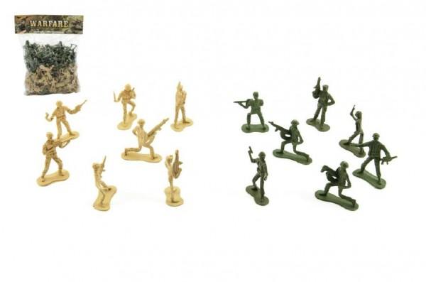 Sada vojáci plast 5cm 2 barvy v sáčku 29x36x8cm