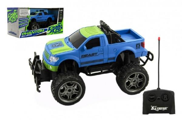 Auto RC terénní plast 30cm velká kola na dálkové ovládání na baterie v krabici 37x20x19cm