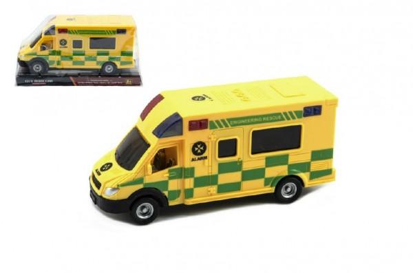 Auto ambulance plast 17cm na setrvačník v blistru