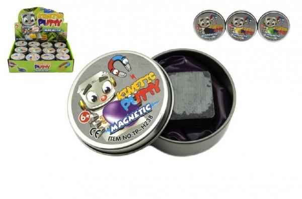 Hmota/modelína 40g inteligentní magnetická 6cm mix barev v plechové krabičce 24ks v boxu