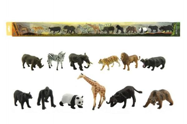 Zvířátka safari ZOO plast 6cm 12ks v tubě 7x78x4cm