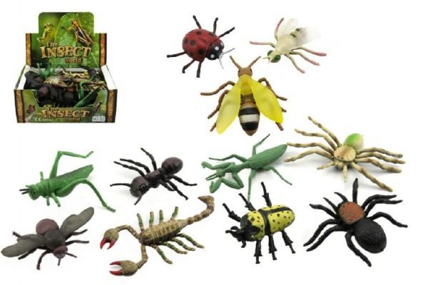 Hmyz plast 13cm asst mix druhů 48 v boxu