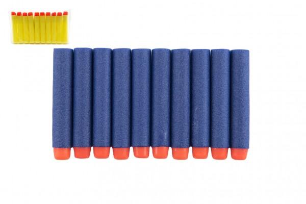 Pěnové náboje 1x7cm 10ks v sáčku 2 barvy