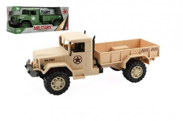 Auto vojenské nákladní plast 30cm asst 2 barvy v krabici 34x14x13cm