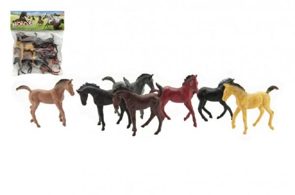 Kůň plast 10cm 8ks v sáčku