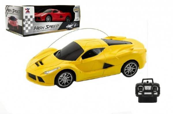 Auto RC sportovní plast 20cm na baterie asst 2 barvy v krabici 26x10x14cm
