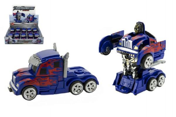 Auto robot/truck plast 13cm 10ks v boxu