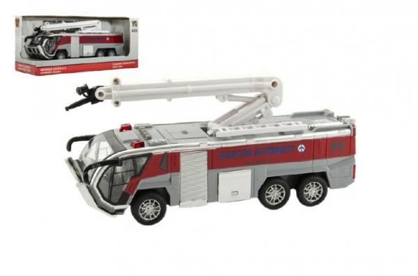 Auto hasiči plast 20cm na baterie se světlem asst 2 barvy v krabici 25x11x9cm