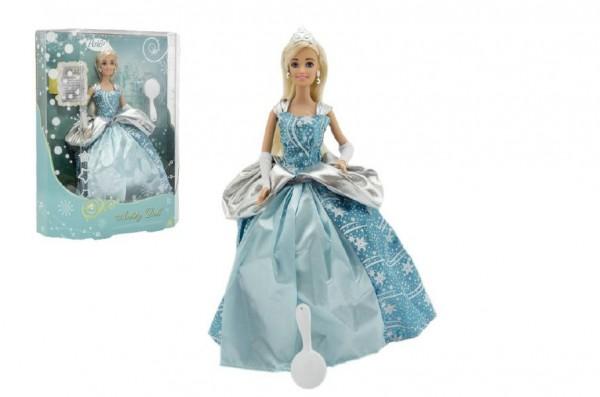 Panenka kloubová Anlily plast zimní princezna Ledové království 28cm v krabici 27x33x8cm