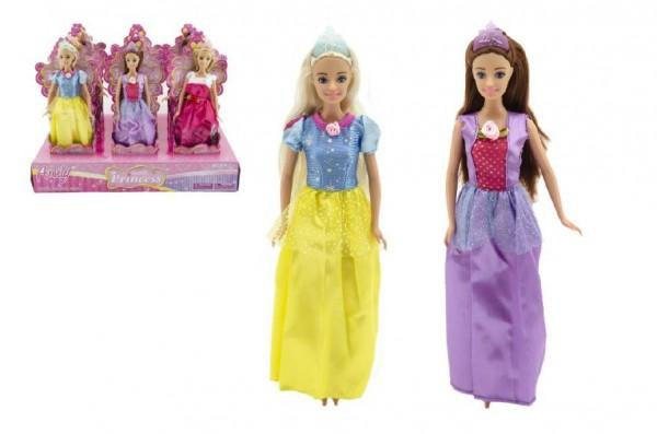 Panenka kloubová Anlily princezna plast 28cm asst 3 barvy v kornoutu 12ks v boxu