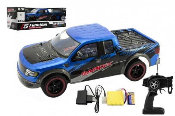Auto RC plast 40cm zrychlující na baterie dobíjecí pack v krabici 56x20x24cm
