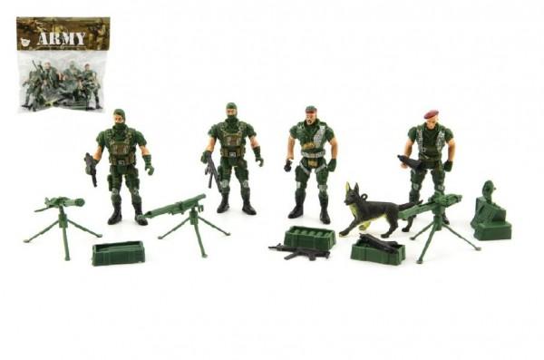 54ac581506d6 Sada vojáci 4ks s doplňky plast CZ design na kartě 18x19