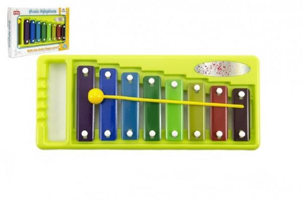 Xylofon kov/plast 26cm v krabici 29x18x3cm 18m+