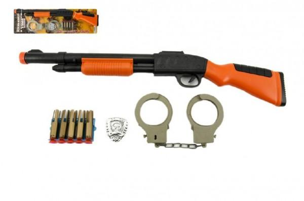 Sada pistole+pouta+náboje na přísavky plast 50cm na kartě