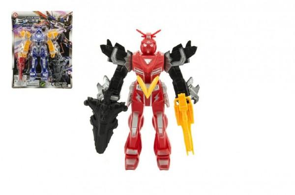 Robot figurka plast 15cm asst 4 barvy na kartě