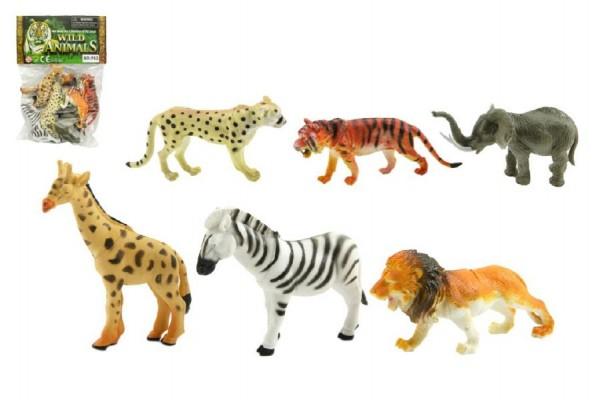 Zvířátka safari ZOO 6ks plast 10cm v sáčku