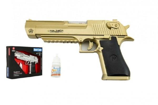 Pistole kouřící plast 22cm na baterie se zvukem se světlem asst 2 barvy v krabici