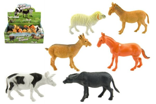 Zvířátko farma plast 10cm asst mix druhů 12ks v boxu