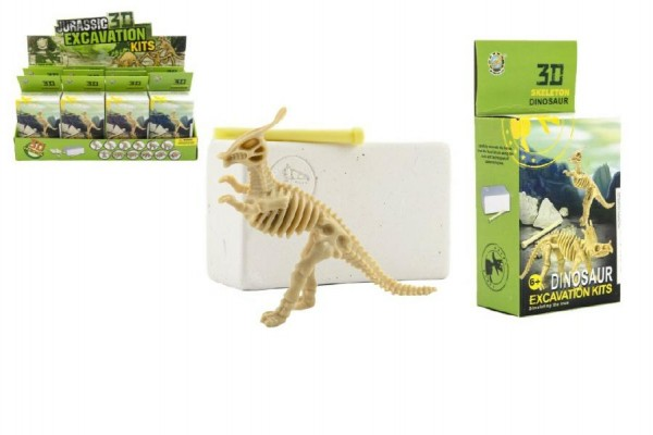 Dinosaurus 3D skládačka zkamenělina v krabičce 6x14x4cm 12ks v boxu