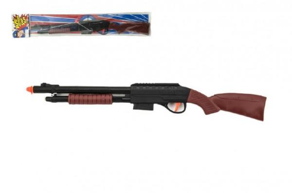 Pistole/puška špuntovka s provázkem plast 47cm v sáčku