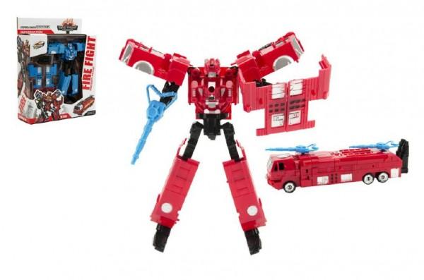 Auto/Robot transformer plast 18cm asst 2 barvy v krabici 21x27x7cm