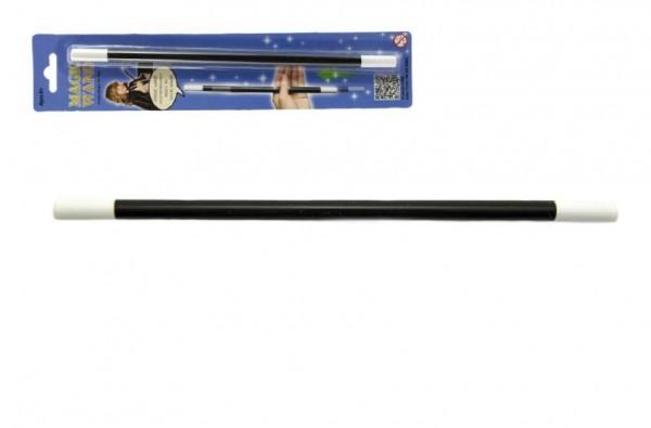 Kouzelnická hůlka plast 25cm na kartě karneval