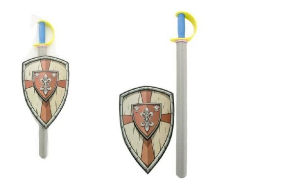 Meč pěnový se štítem 75cm v síťce