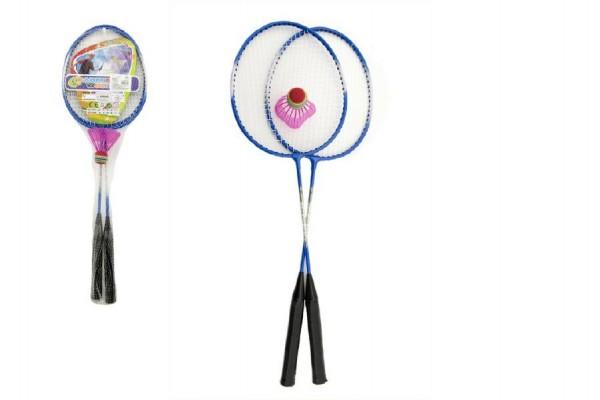Badminton kov 2 pálky a 1 míček 3 barvy v síťce