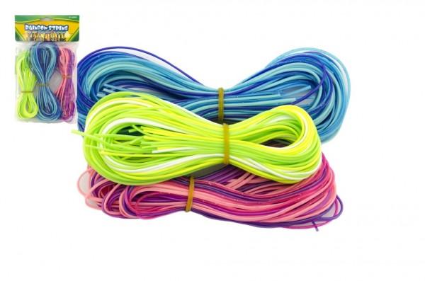 Zaplétací provázky bužírky plast asst 3 barvy v sáčku