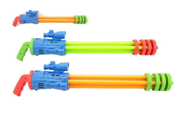 Vodní pistole trubice plast 67cm asst 2 barvy v síťce