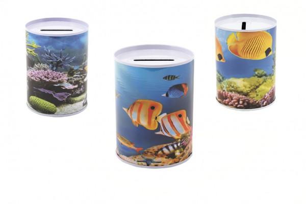 Pokladnička ryby plech 10x8cm asst 3 druhy v sáčku