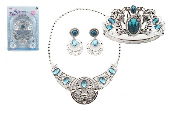Sada krásy plast korunka + náhrdelník + naušnice 3ks na kartě
