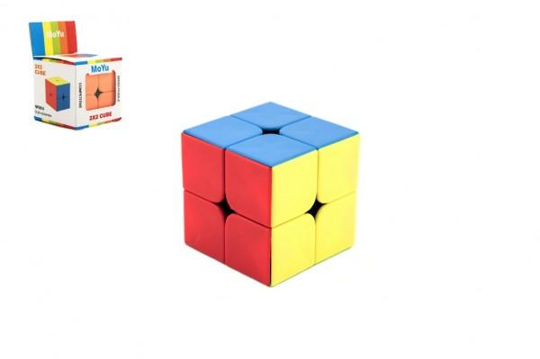 Hlavolam kostka plast 2x2 v krabičce 5,5x5,5cm