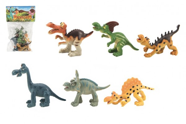 Dinosauři veselí plast 9-11cm 6ks v sáčku