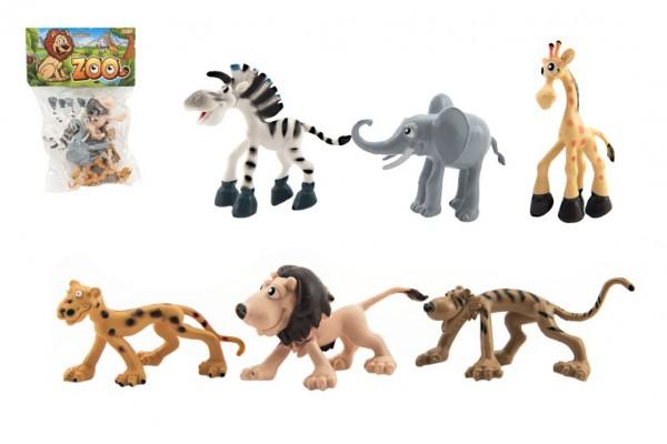 Zvířátka veselá safari ZOO plast 9-10cm 6ks v sáčku