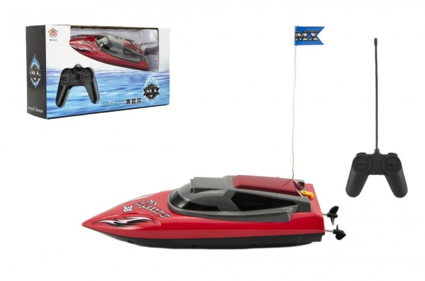 Člun/Loď RC plast 21cm na baterie (funguje pouze ve vodě) v krabici 32x18x9cm