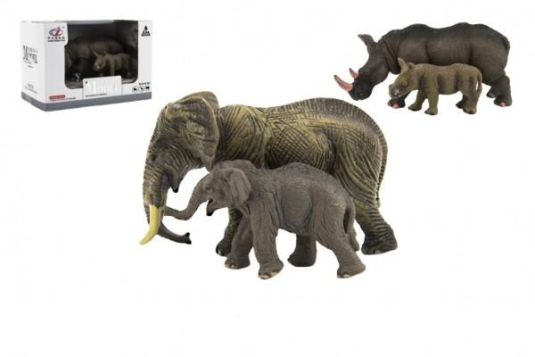 Zvířátka safari ZOO 14cm sada plast 2ks 2 druhy v krabičce 16x11x9,5cm
