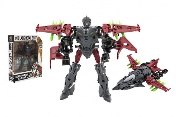 Transformer letadlo/robot plast 17cm v krabici 21x27x6cm